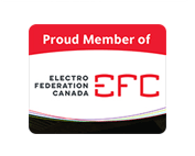 Proud member of Electro-Fedération Canada